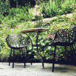 Hangbepflanzung eines Gartens